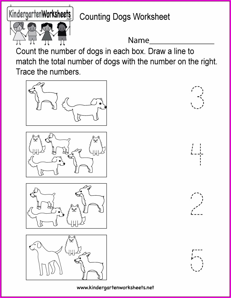 Worksheet For Kindergarten Math Counting