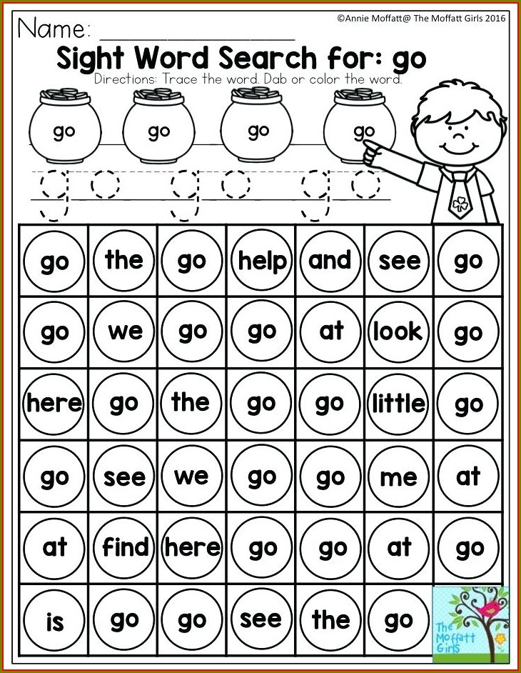Worksheet For Sight Word Can
