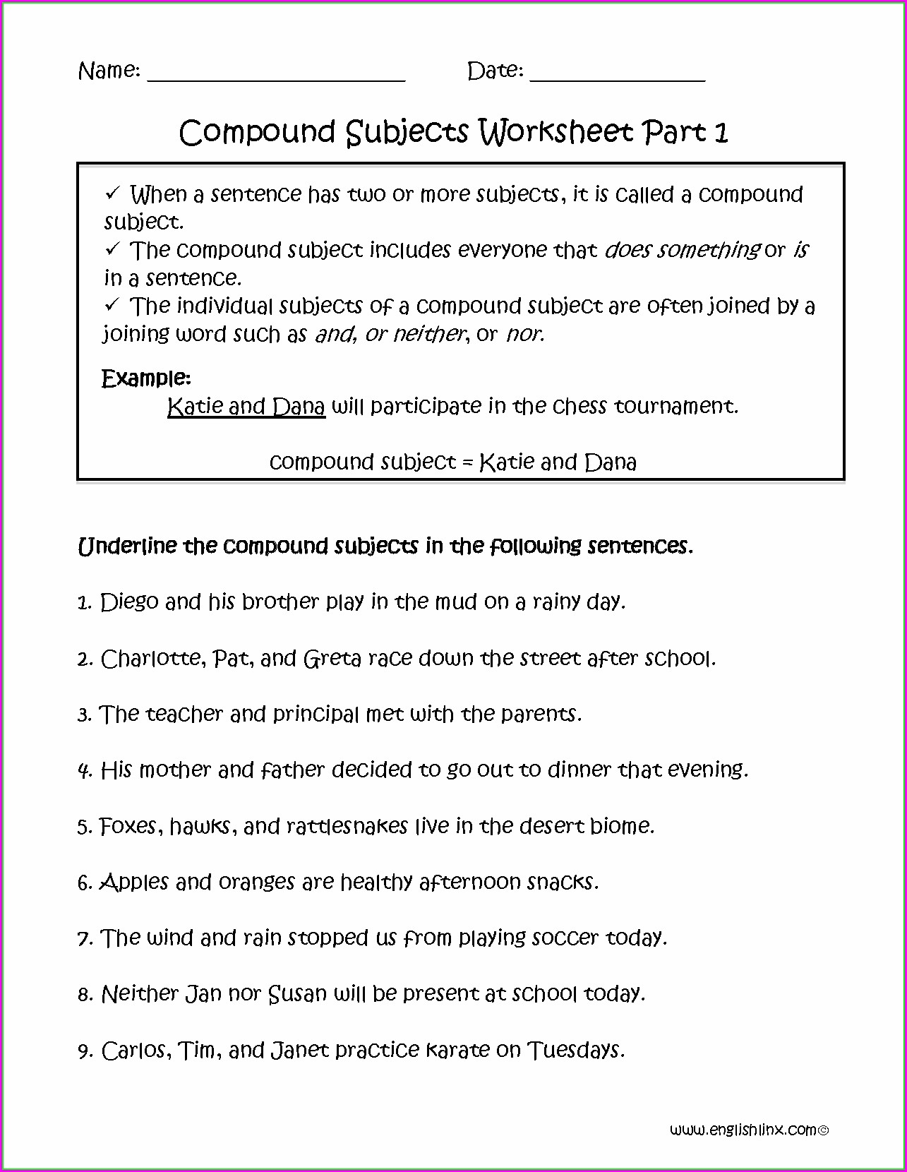 Worksheet Grade 3 Worksheet Subject Verb Agreement