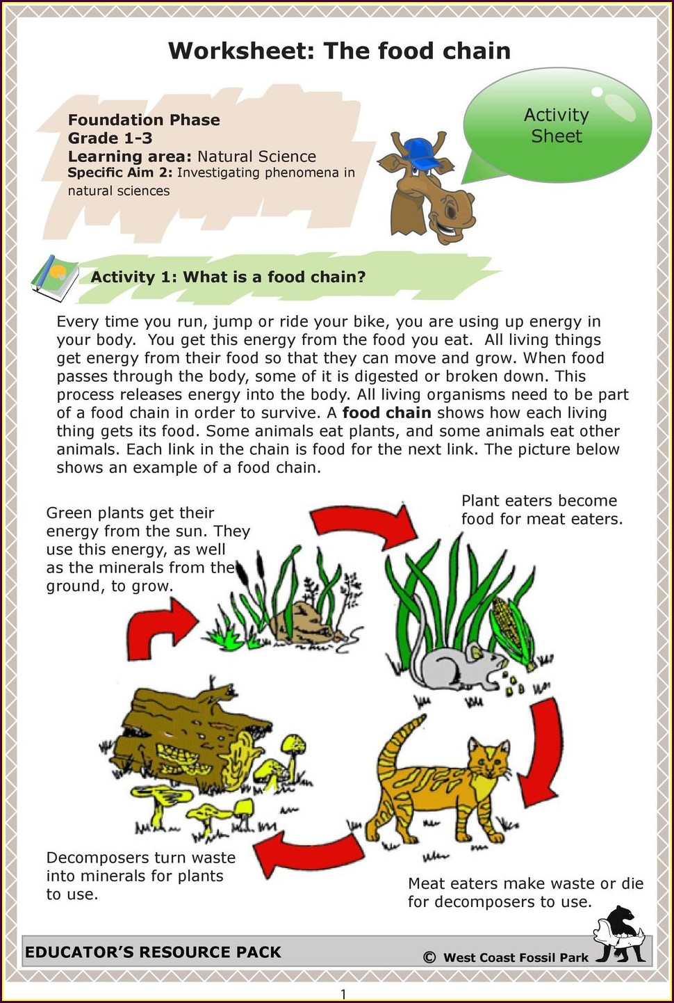 Worksheet On Food Chain For Grade 7