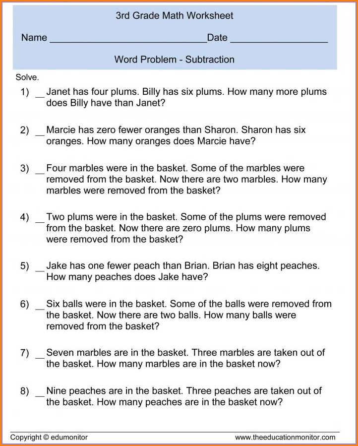 Worksheet On Word Problems On Fractions For Grade 6
