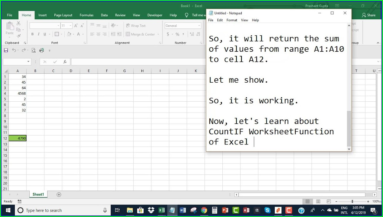 Worksheetfunction Object Vba Excel