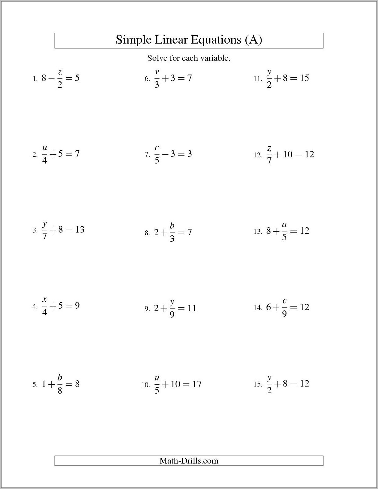 Worksheets For Algebra 2