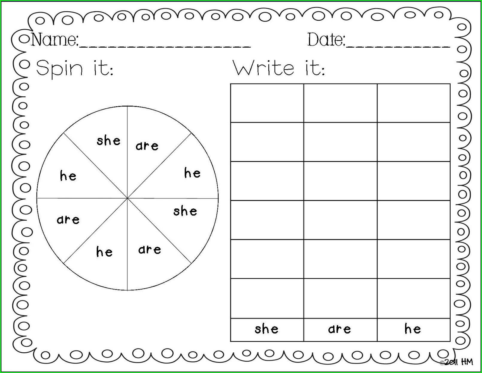 Worksheets For Kindergarten To First Grade