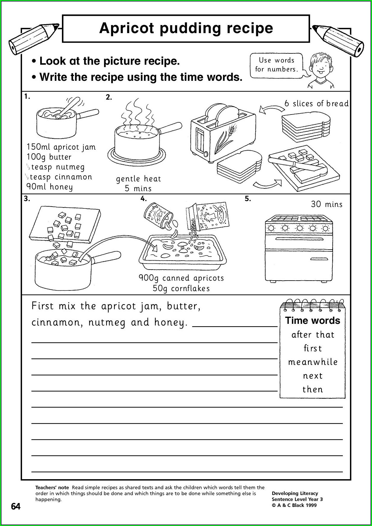 Writing Instructions Ks1 Worksheet