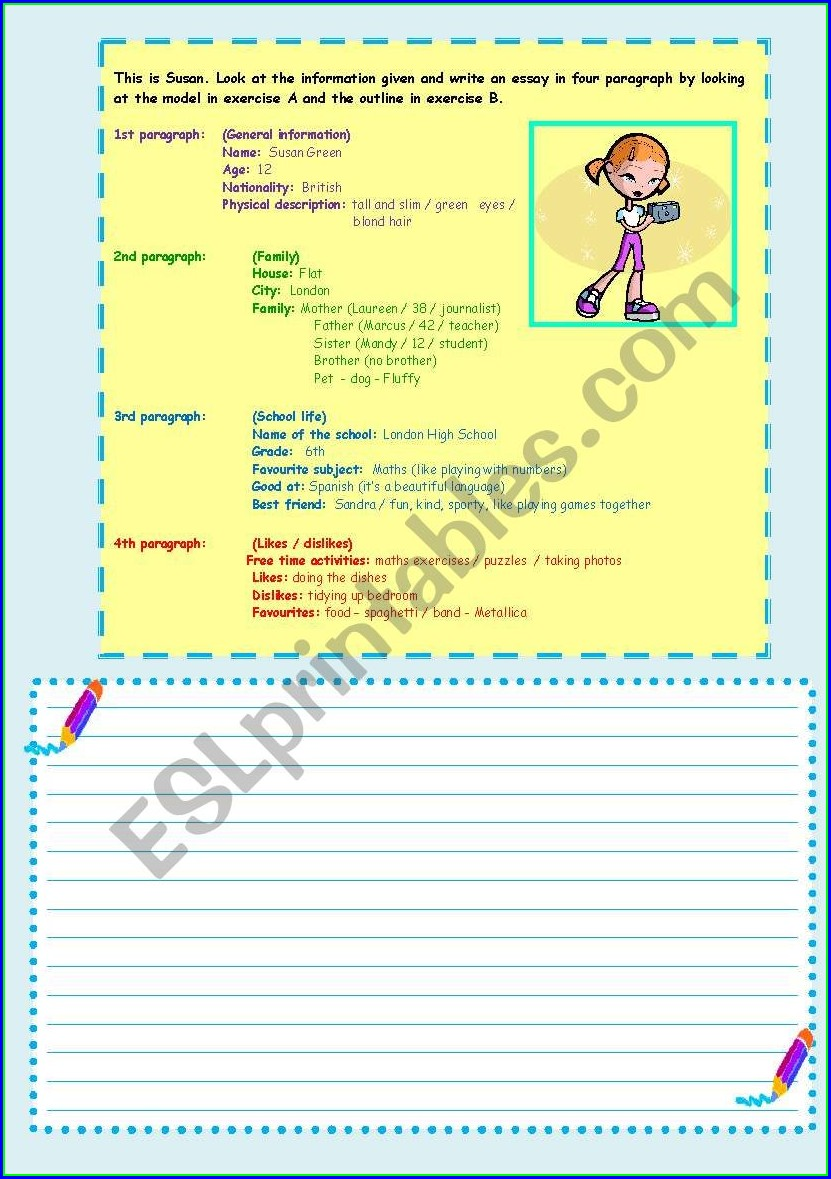 Writing Personal Information Worksheet