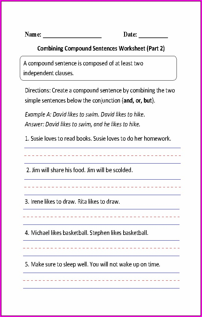Writing Simple Sentences Worksheet Pdf