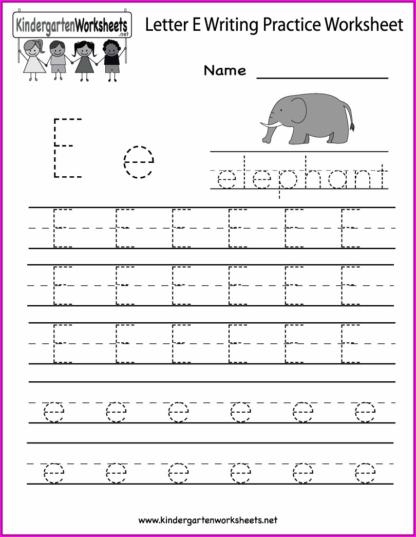 Writing Worksheet For Kindergarten