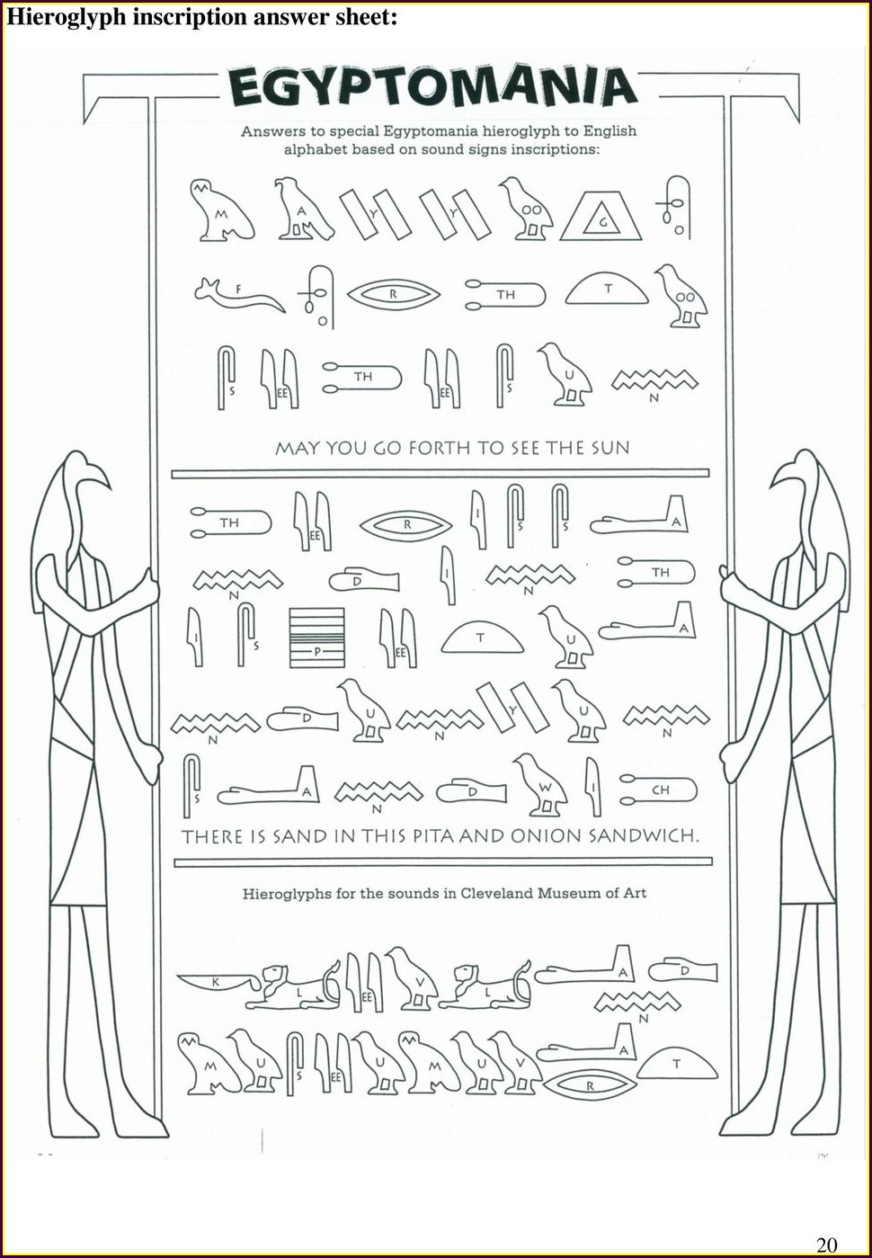Writing Your Name In Hieroglyphics Worksheet