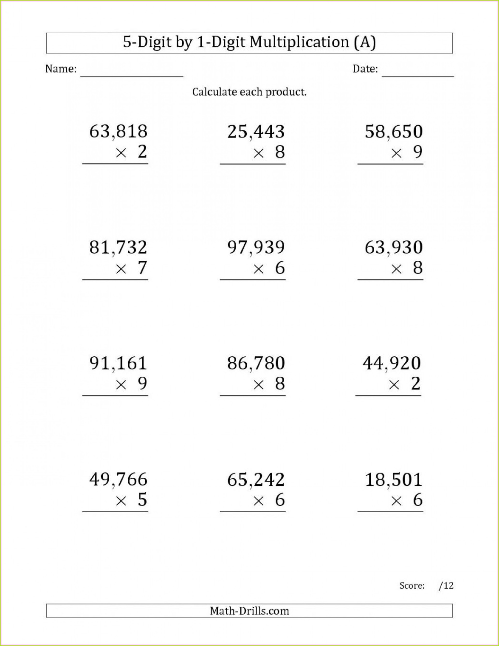 Year 6 Maths Addition And Subtraction Worksheets