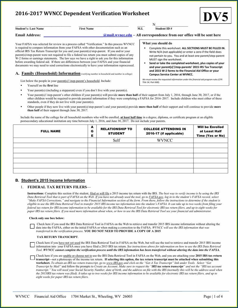 1040ez Exemptions Worksheet 2013