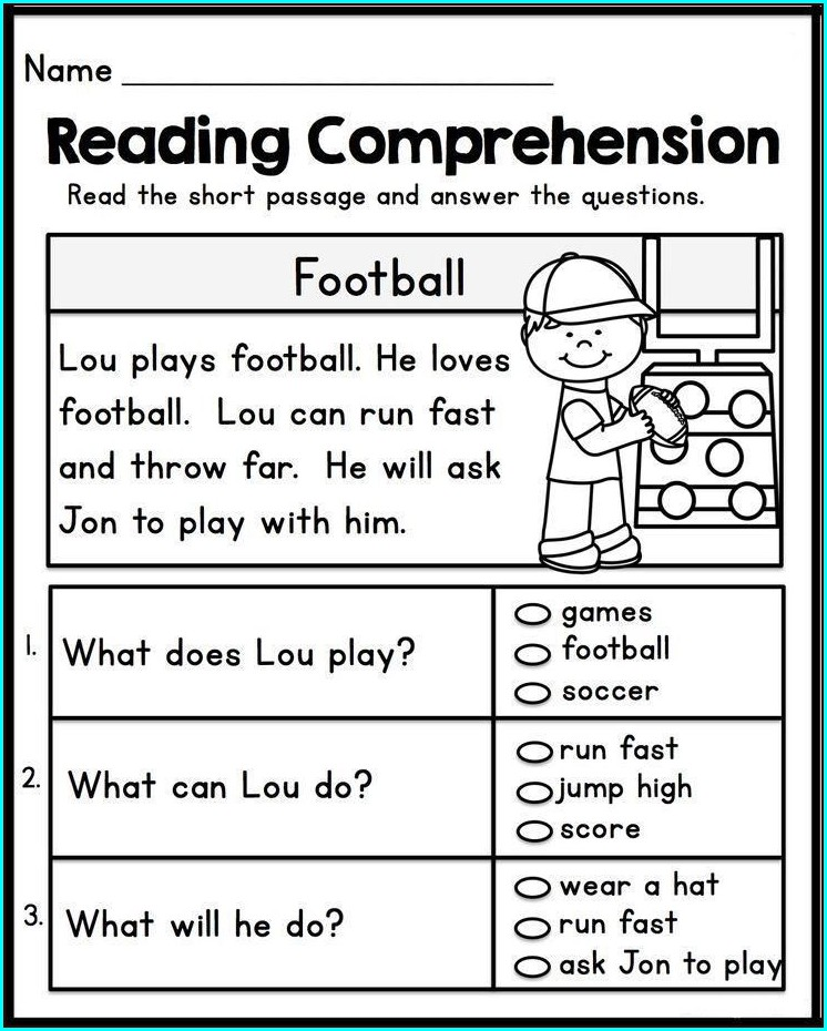 1st Grade English Reading Worksheets