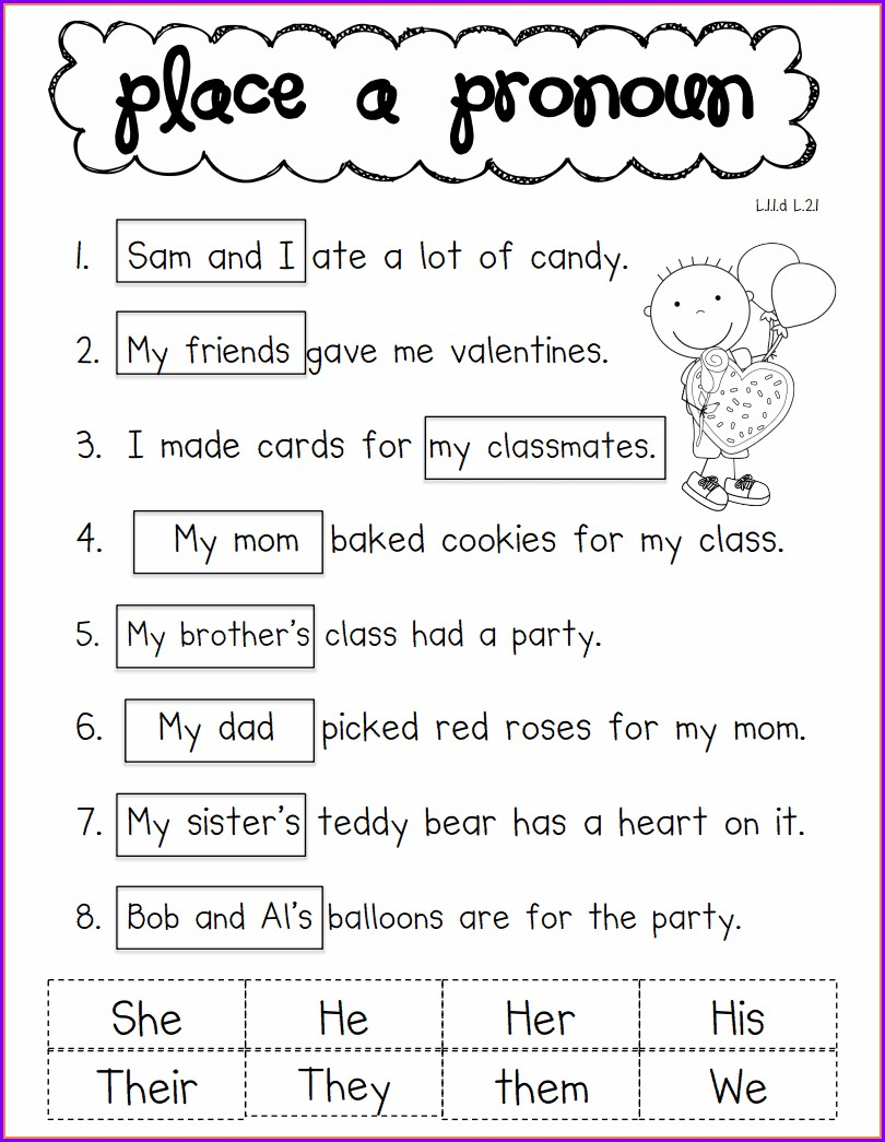 1st Grade English Worksheets Pdf