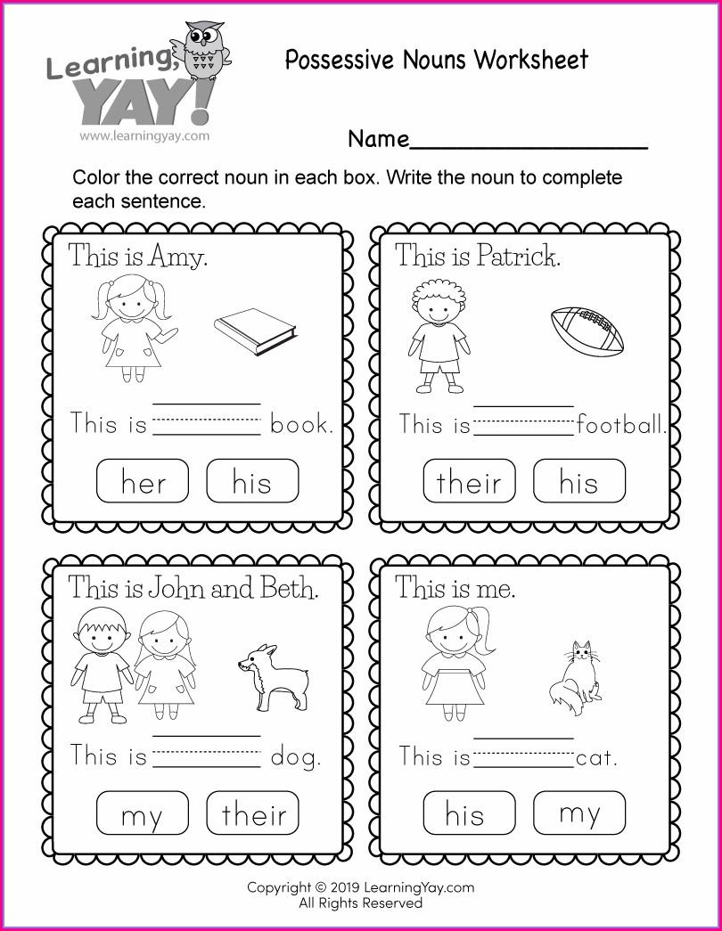 1st Grade Free Printable 1st Grade Worksheet For Kids