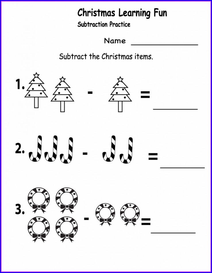 1st Grade Math Subtraction Worksheet