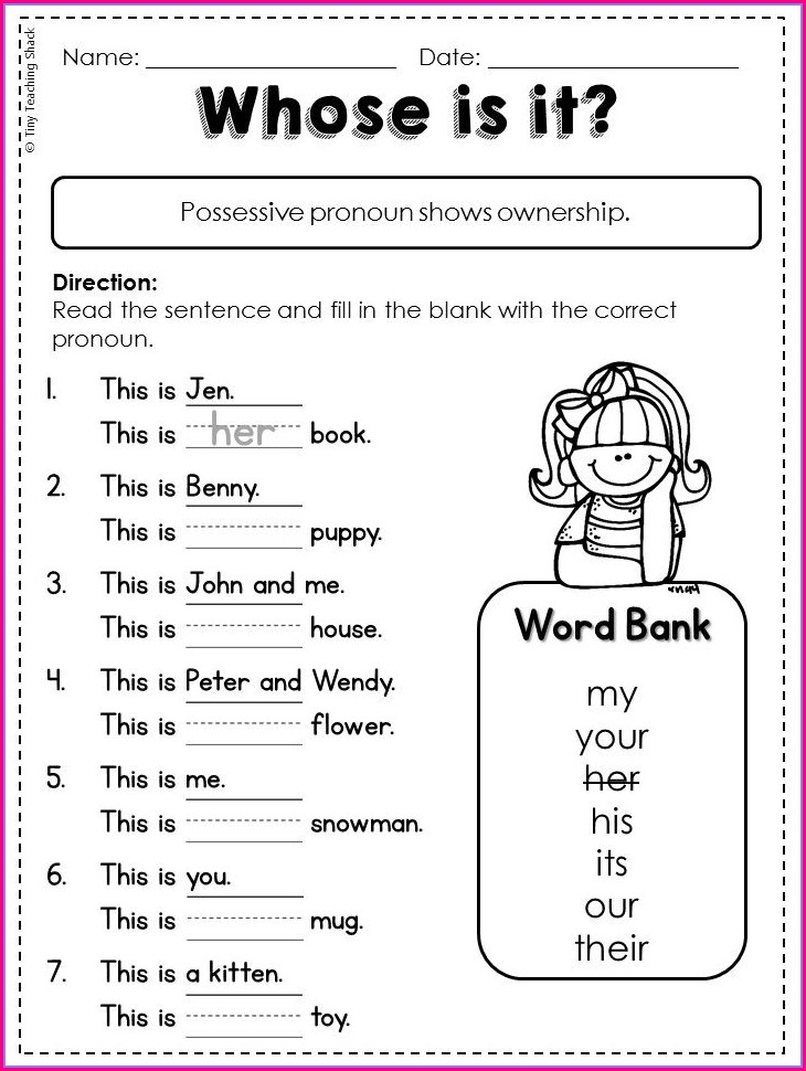 1st Grade Worksheet On Adjectives For Grade 2