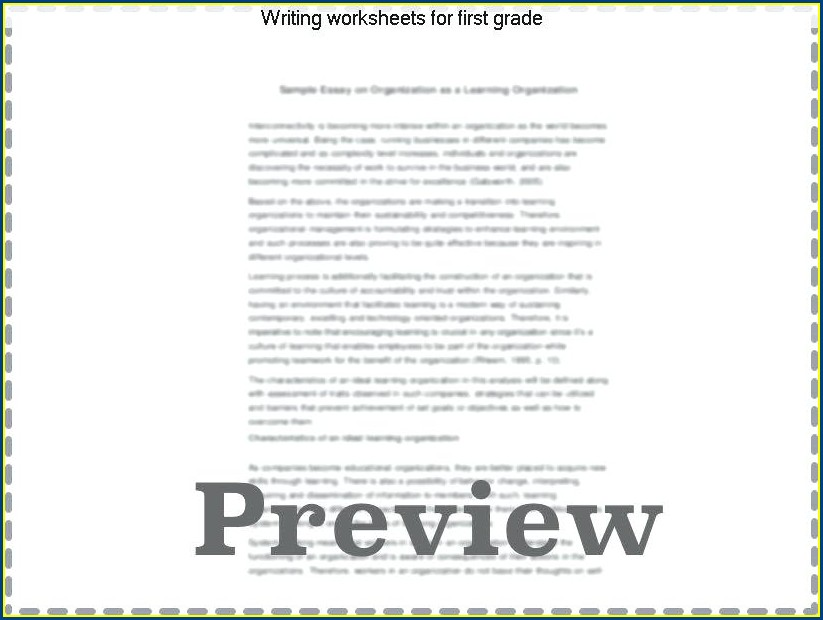 1st Grade Writing Sentences Worksheets Pdf