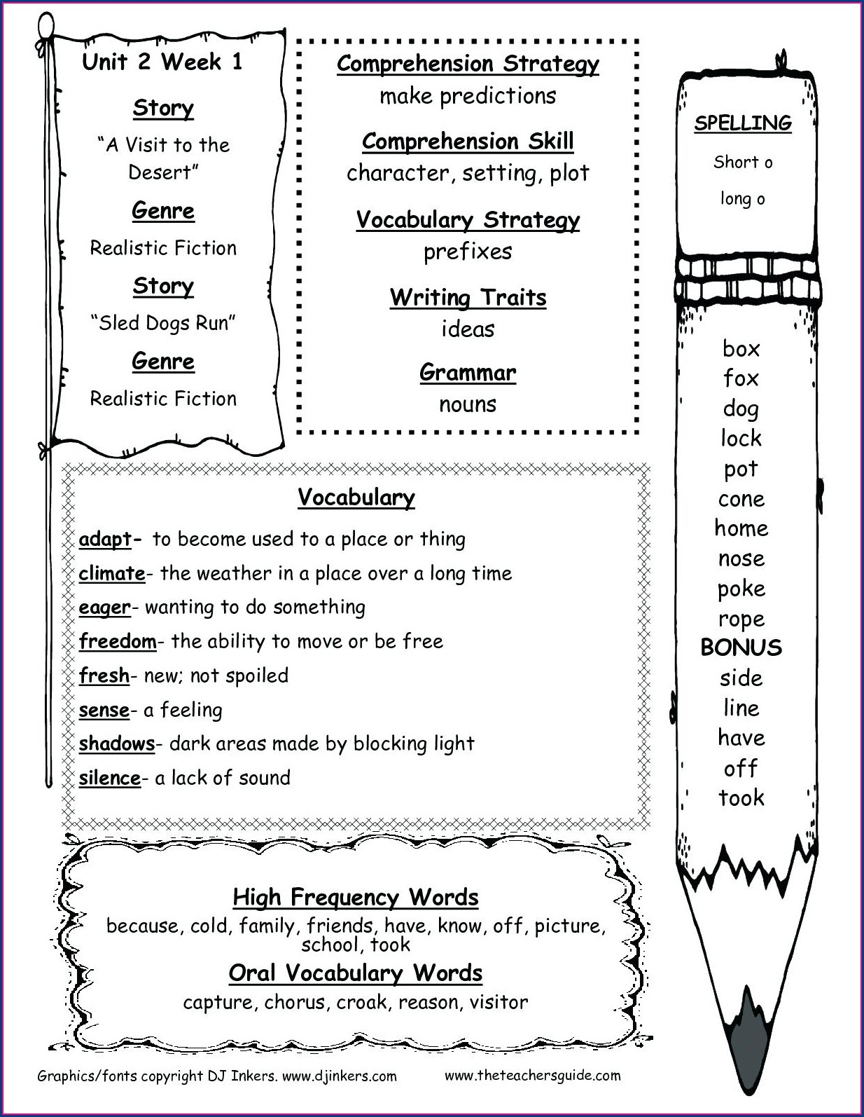 2nd Grade Alliteration Worksheets