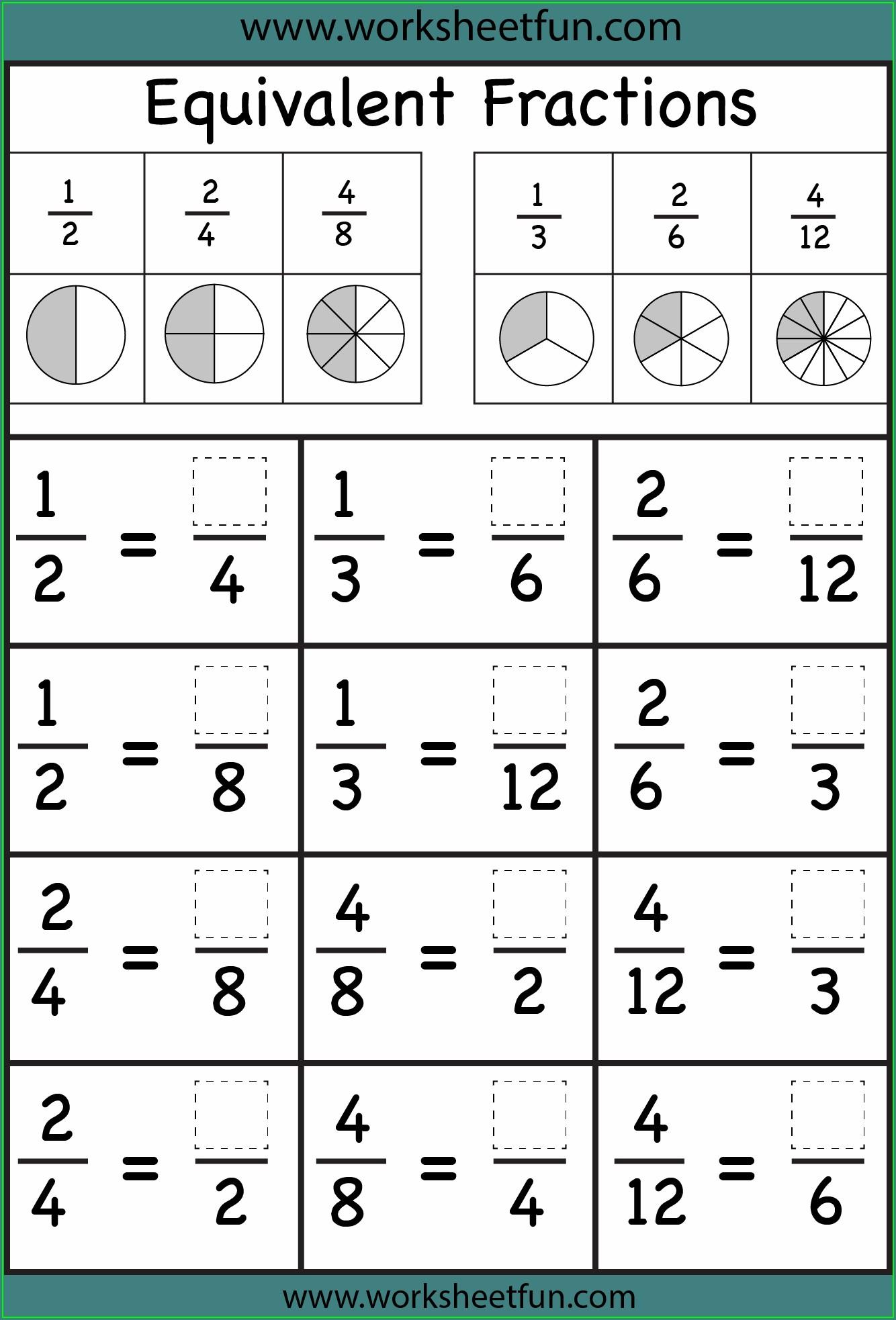 2nd Grade Compare Fractions Worksheet