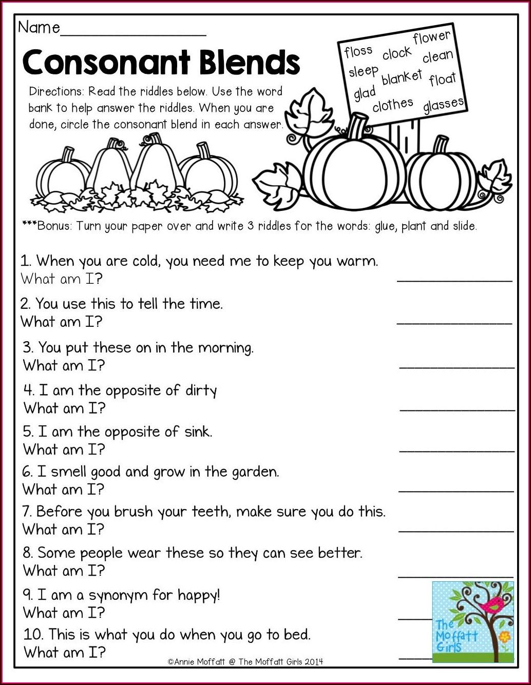 2nd Grade Consonant Digraph Worksheets