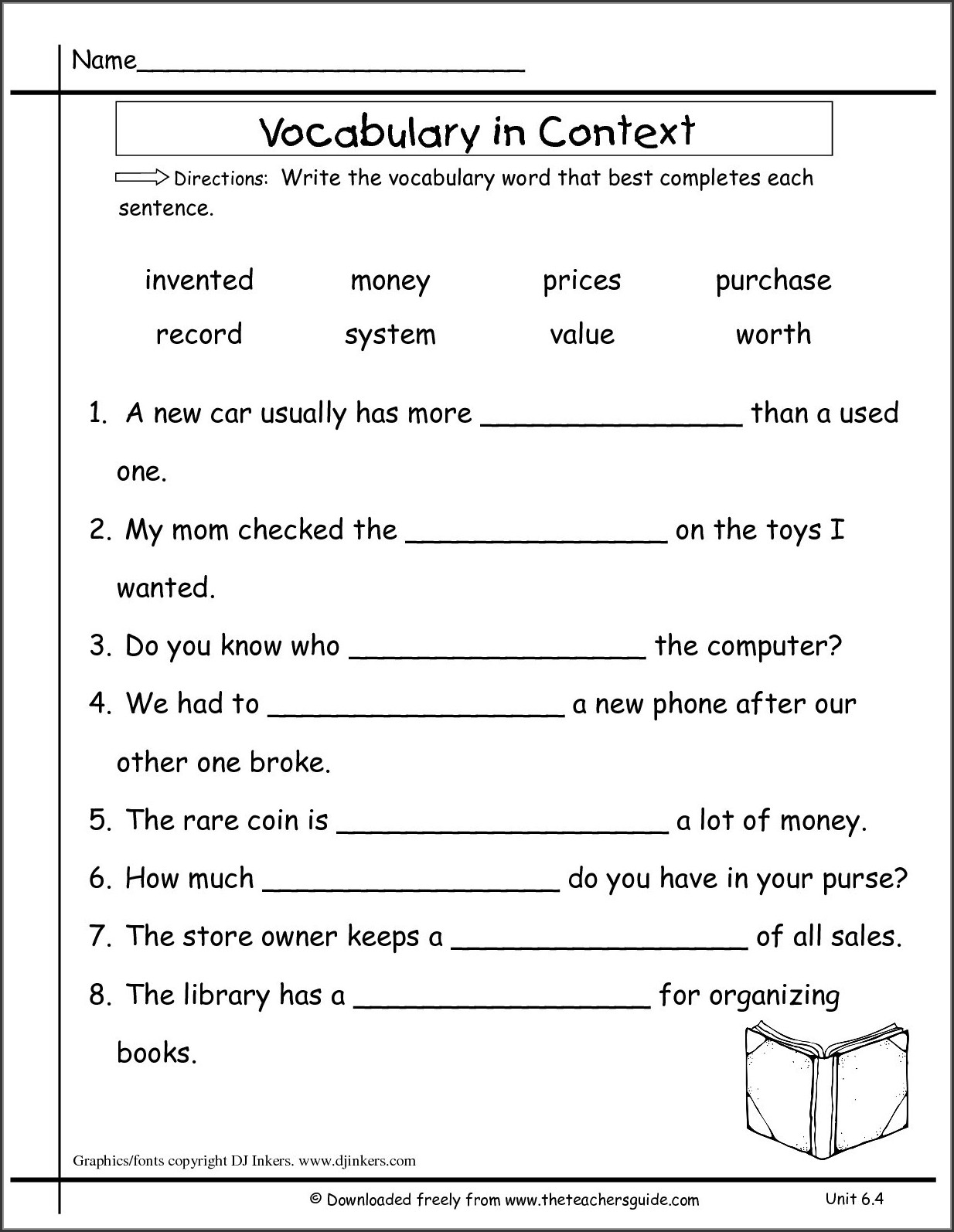 2nd Grade Dictionary Skills Worksheets