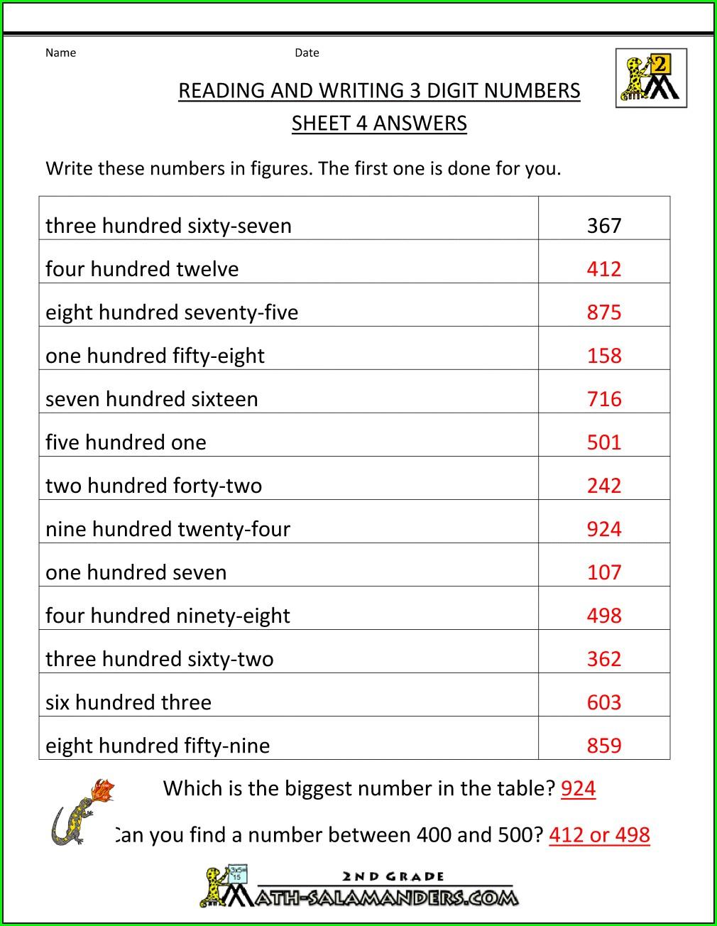 2nd Grade Dyslexia Math Worksheets