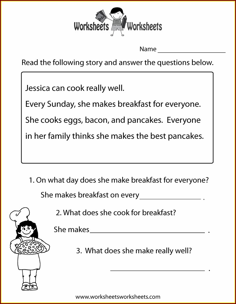 2nd Grade Free Printable Reading Comprehension Worksheets