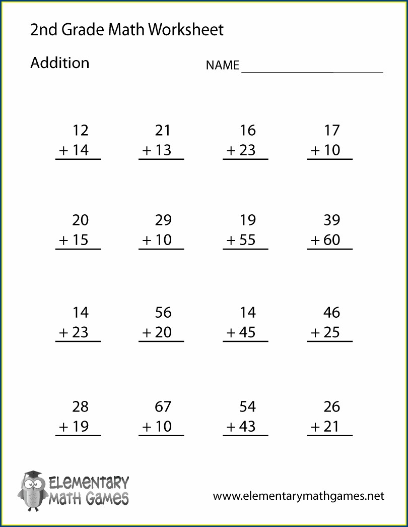 2nd Grade Math Worksheet Packets