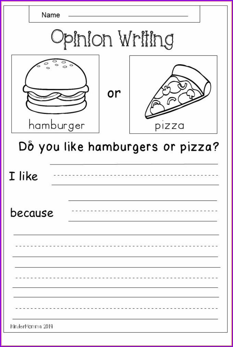 2nd Grade Persuasive Writing Worksheet