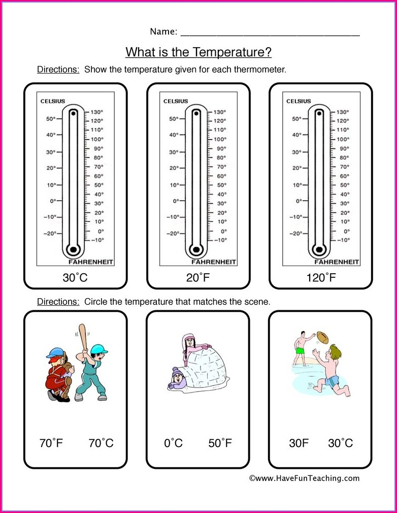 2nd Grade Reading A Thermometer Worksheet