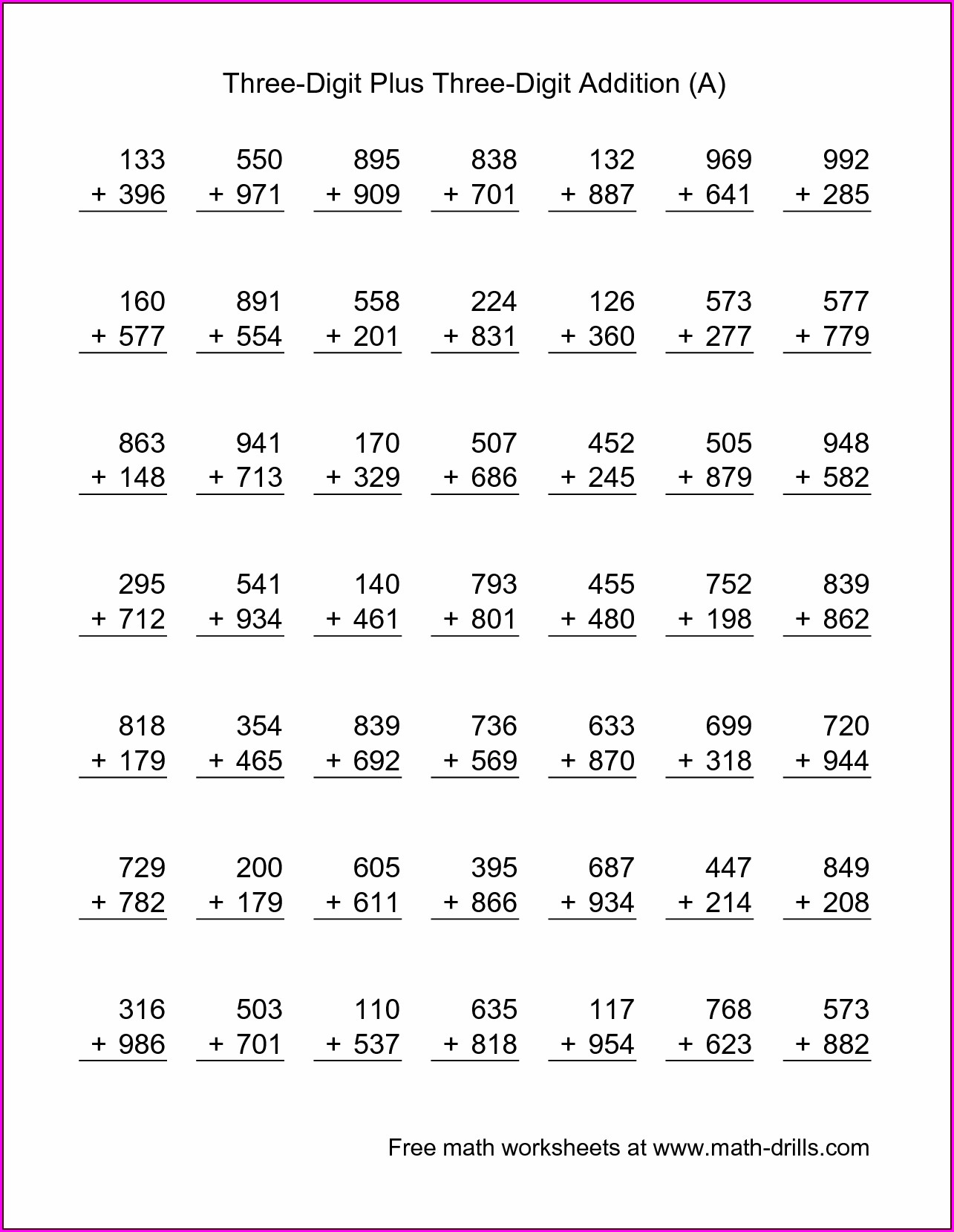 Free Subtraction Regrouping Worksheets 2nd Grade Worksheet