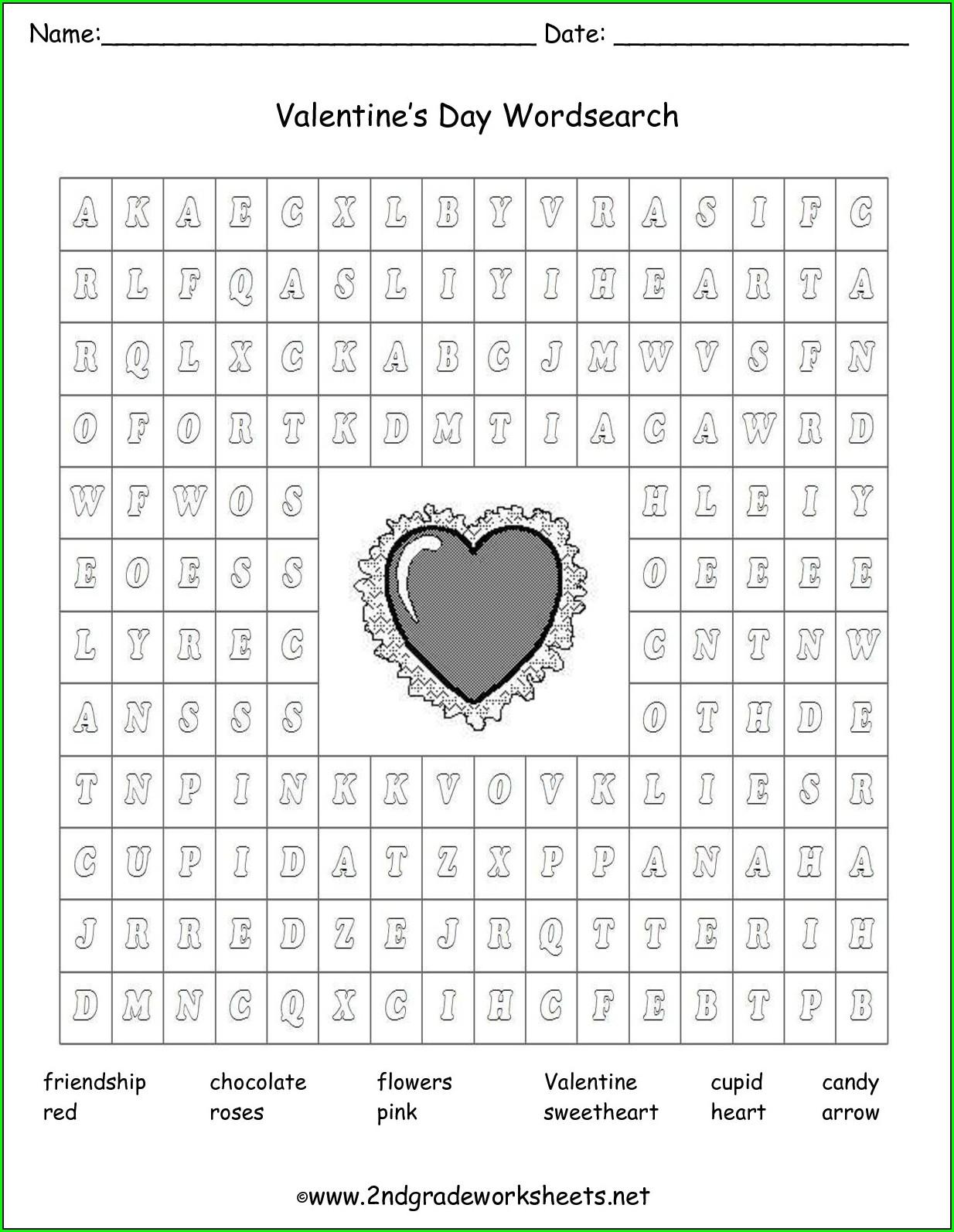 2nd Grade Valentine's Day Ela Worksheets