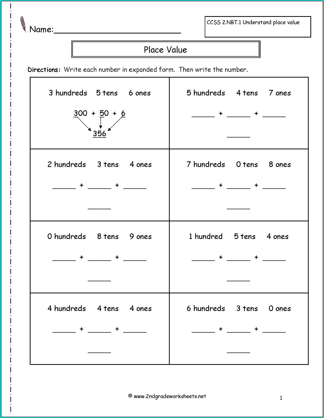 2nd Grade Writing Worksheet