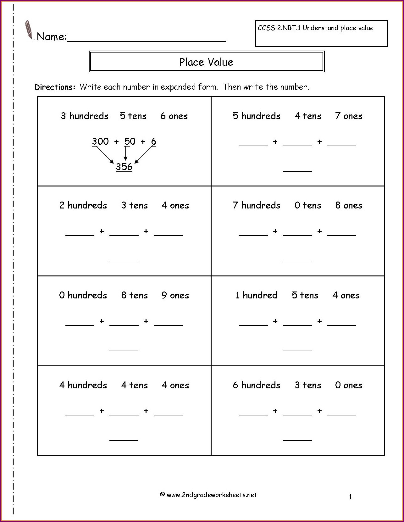2nd Grade Writing Worksheets Free