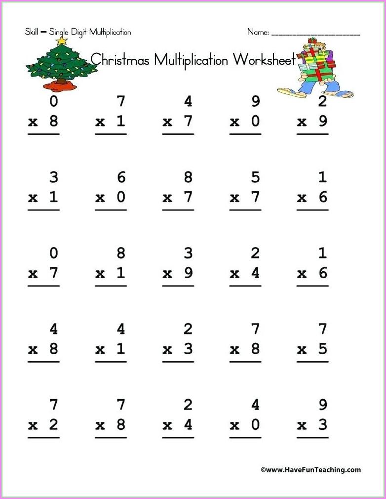 3 Digit Times 2 Digit Worksheets