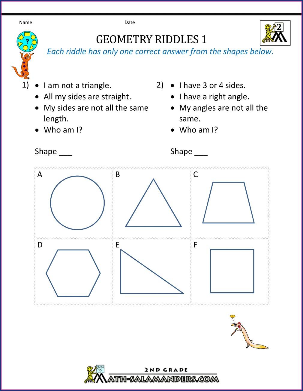 3rd Grade Free Polygon Worksheets