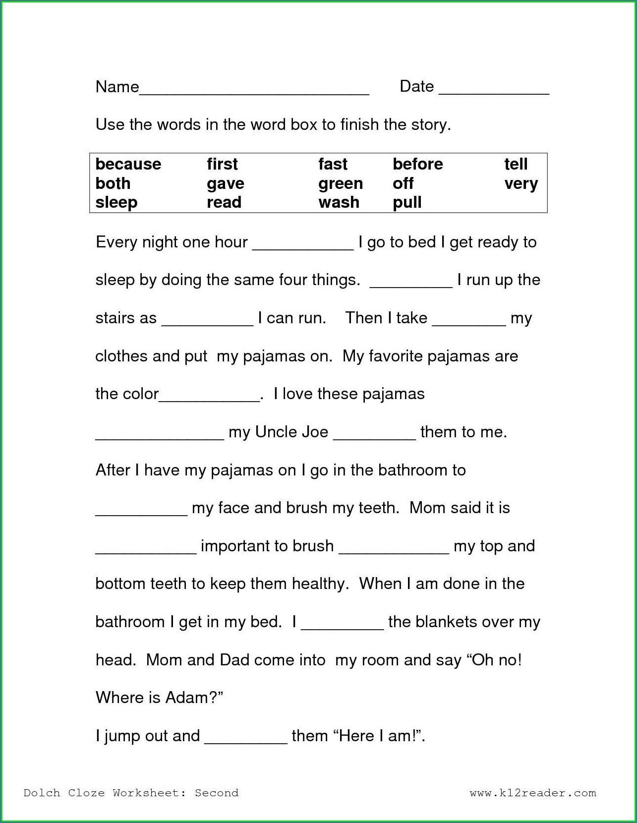 3rd Grade Grade 3 Health Worksheets