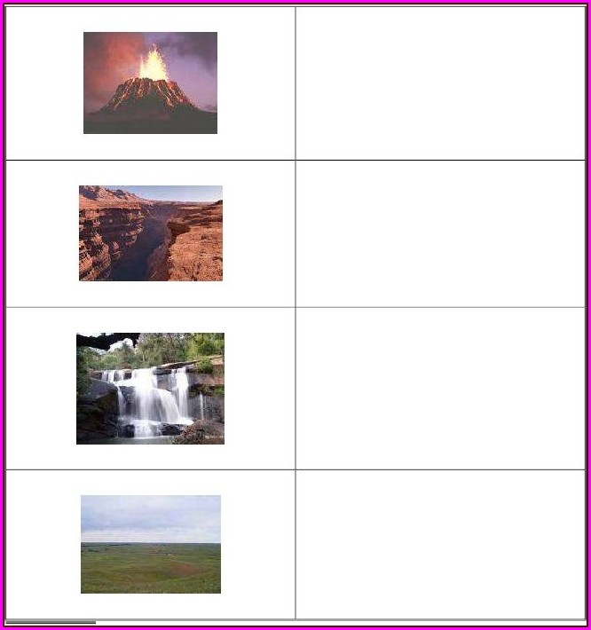 3rd Grade Landforms Worksheet