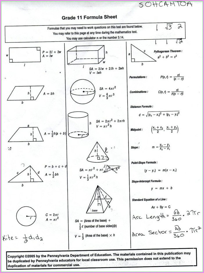 3rd Grade Math Test Worksheets