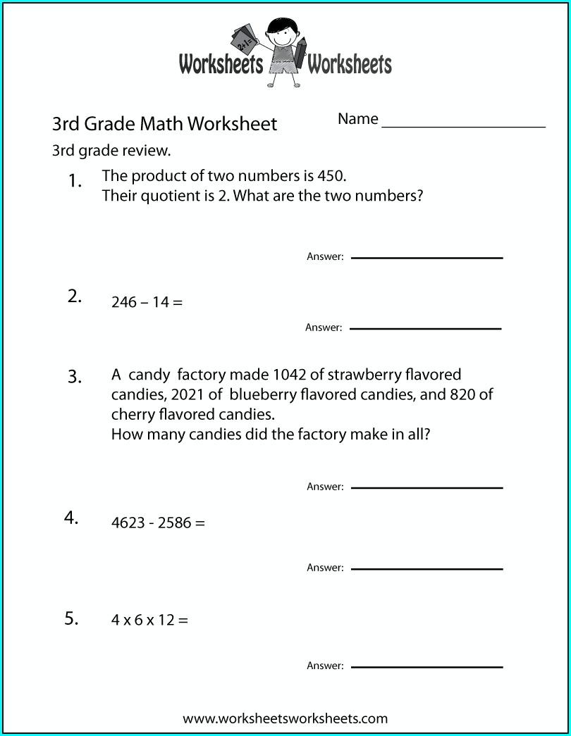 3rd Grade Math Worksheets Jumpstart