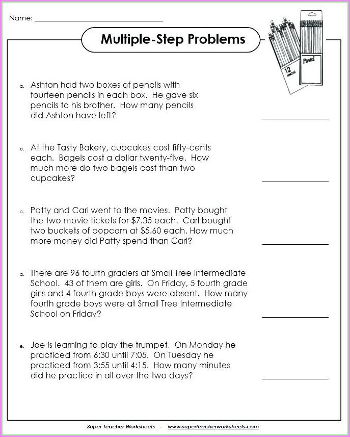 3rd Grade Money Word Problems Worksheets