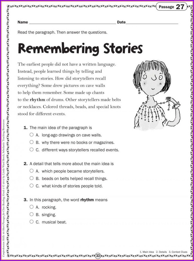 3rd Grade Poetry Worksheets