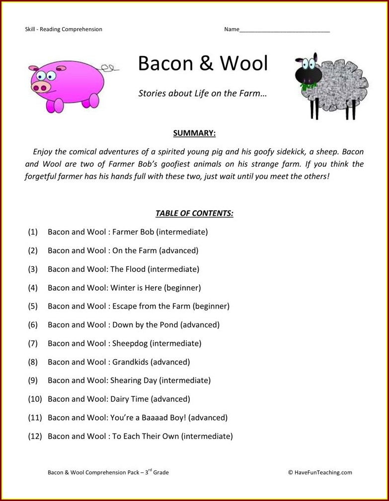 3rd Grade Reading Worksheets Jumpstart