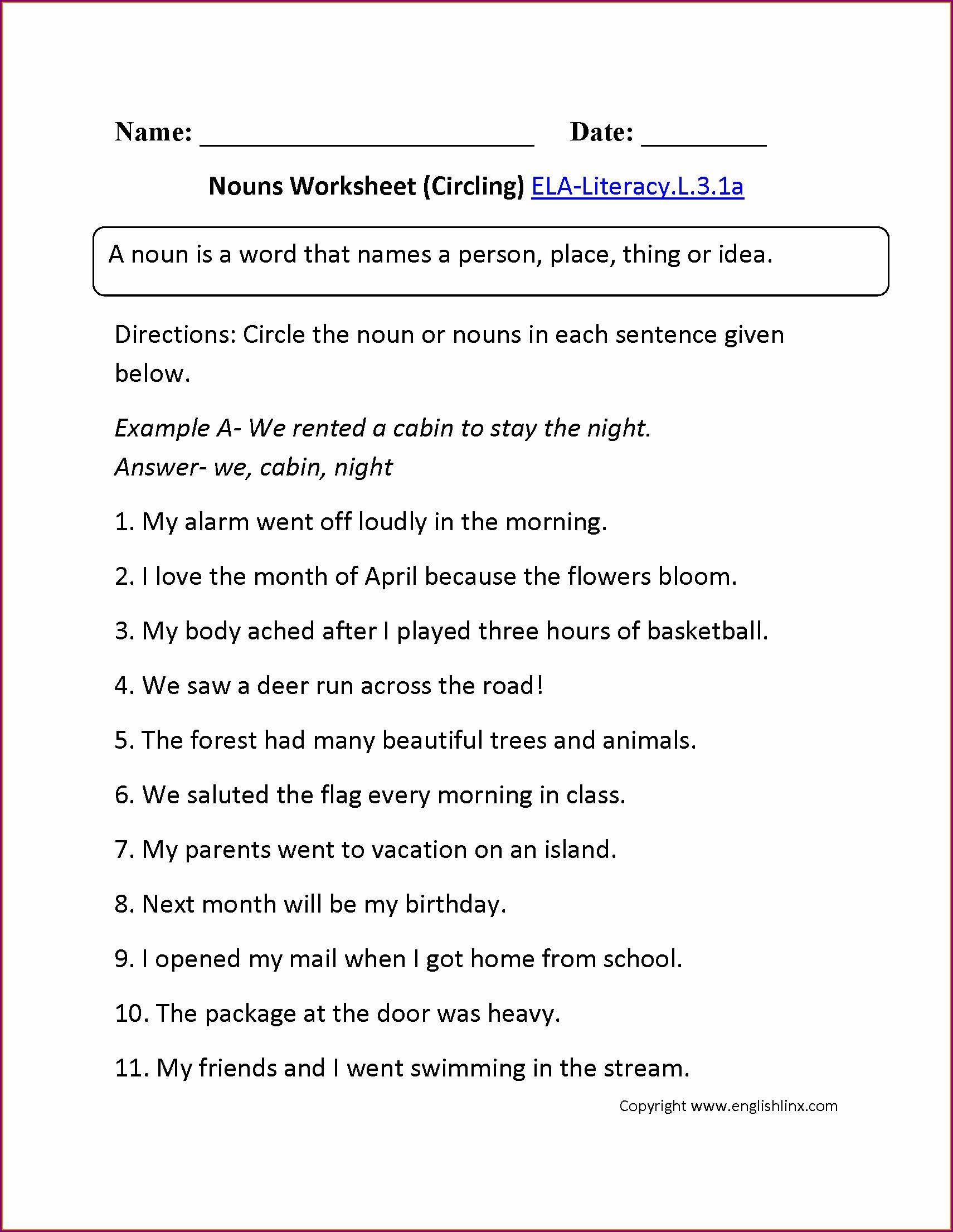 3rd Grade Verbs Worksheet Grade 3