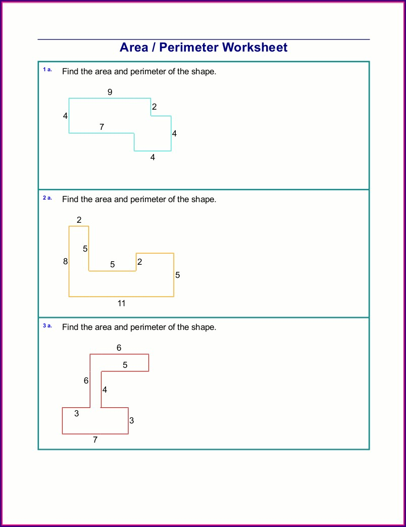 3rd Grade Worksheets On Area And Perimeter