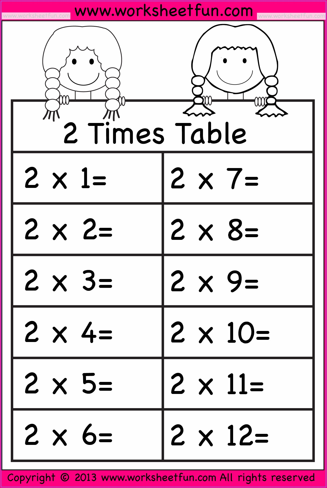 4 Times Table Worksheet Year 3