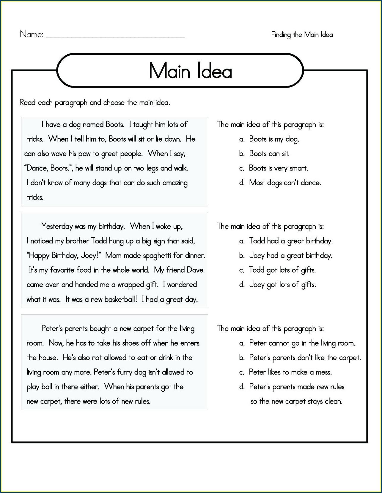 4th Grade Math Word Problems Worksheets Pdf