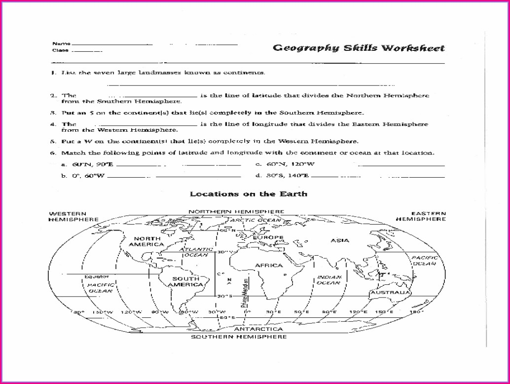 4th Grade Reading A Map Worksheet Pdf