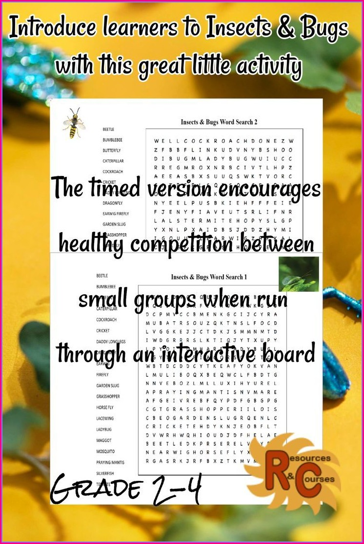 4th Grade Word Search Puzzles Printable