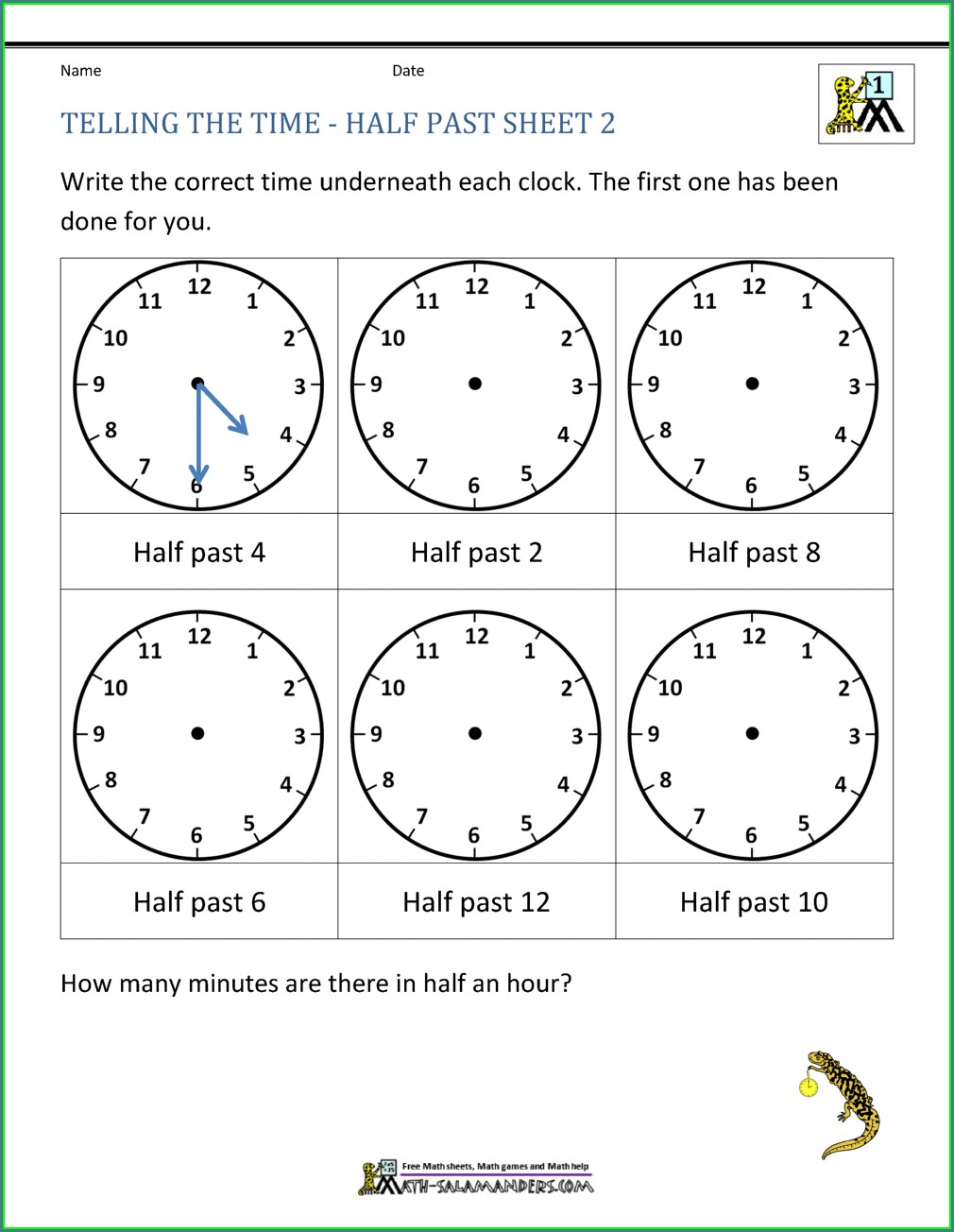 4th Grade Worksheet On Time For Grade 4